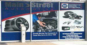 New auto repair graphics storefront